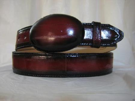 Genuine authentic faded red eel skin western cowboy belt