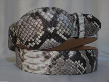Genuine natural python snake western cowboy belt