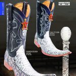 Genuine Python Mens Western Cowboy Boots Diff.Colors/Sizes