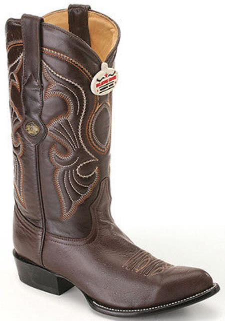 Goat Leatherp Brown Los Altos Mens Cowboy Boots Western Rider Style