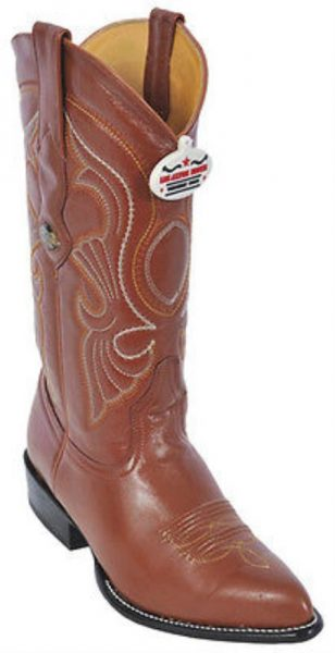 Goat Leatherp Cognac Brown Vintage Los Altos Mens Cowboy Boots Western Riding