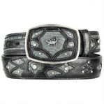 Gray original caiman belly skin fashion western hand crafted belt