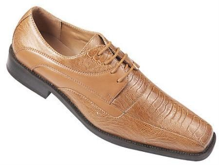 High Quality Fashion Dress Shoes Snake skinlizard Pattern Light Brown