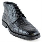 High Top Gator Skin Shoe Black