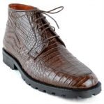 High Top Gator Skin Shoe Brown