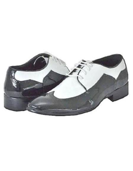 Mens Black White Dress Shoes