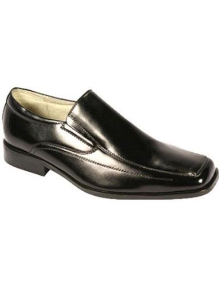 Men's Moc Toe SR Dress Loafers Black