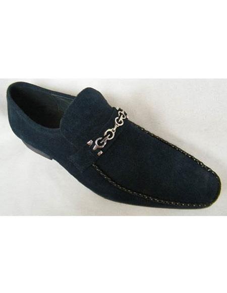 Mens Navy Zota Brand Fashionable Design Shoes