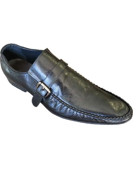 Men's Soft Genuine Leather Slip On Black Cushioned Insole Unique Zota Mens Dress Shoe