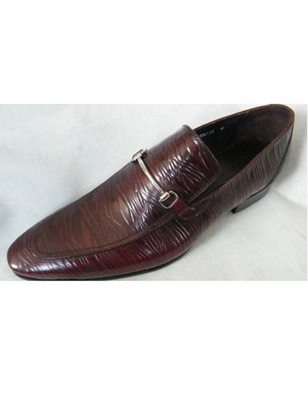 Men's Slip On Leather Cushioned Insole Brown Unique Zota Mens Dress Shoe