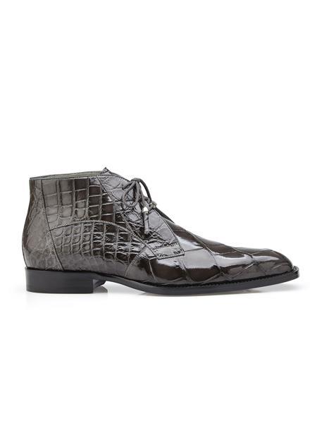 Men's Authentic Belvedere Brand Cushion Insole Cap Toe Lace Up Stefano Grey Belvedere Shoes