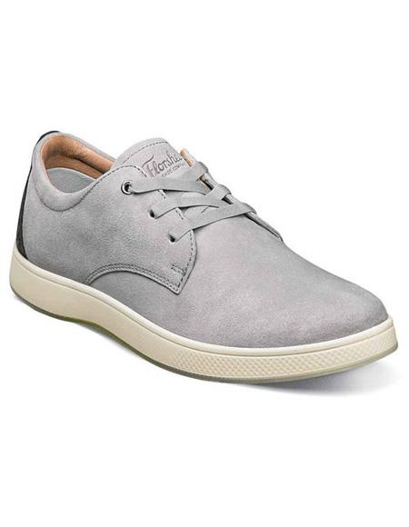 Mens Authentic Belvedere Brand Gray Three Eyelet Lacing Suede ~ Nubuck Shoe