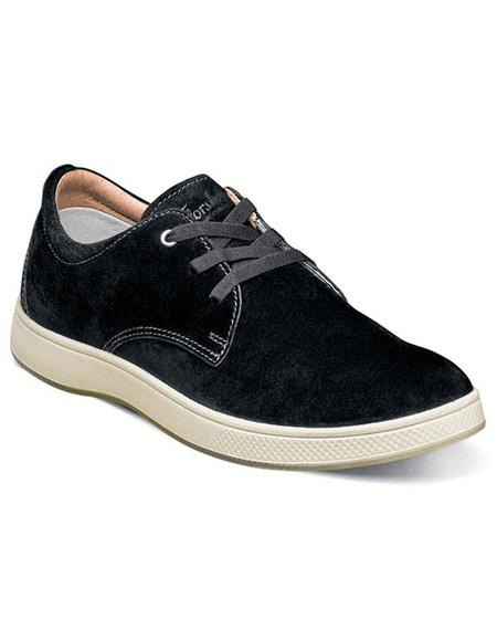 Mens Authentic Belvedere Brand Lace Up Suede ~ Nubuck Black Shoe