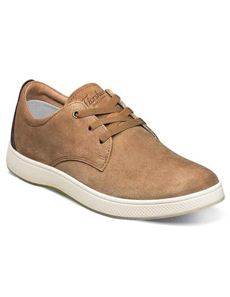 Mens Authentic Belvedere Brand Lace Up Tan ~ Cognac Shoe Suede ~ Nubuck