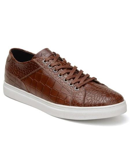 Mens Authentic Belvedere Brand Lace Up Brown Shoe