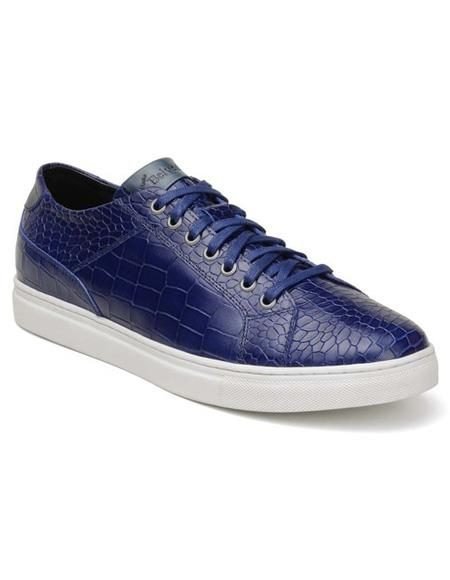 Mens Authentic Belvedere Brand Blue Lace Up Shoe