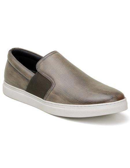 Mens Authentic Belvedere Brand Slip On Ghurka Shoe