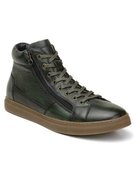 Mens Authentic Belvedere Brand Green Lace Up Shoe