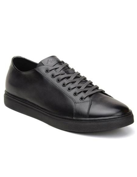 Mens Authentic Belvedere Brand Lace Up Charcoal Shoe