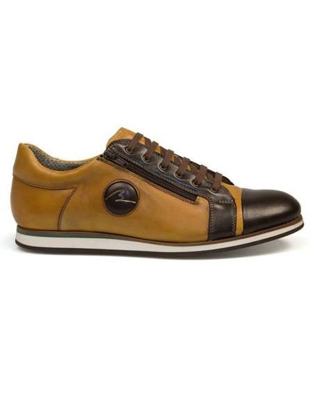 Mens Authentic Belvedere Brand Brown Lace Up Calf ~ Leather Shoe