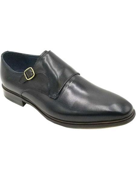 Mens Slip On Zota Mens Unique Dress Shoes - Buckle Premium Soft Genuine Leather Black Unique Zota Mens Dress Shoe