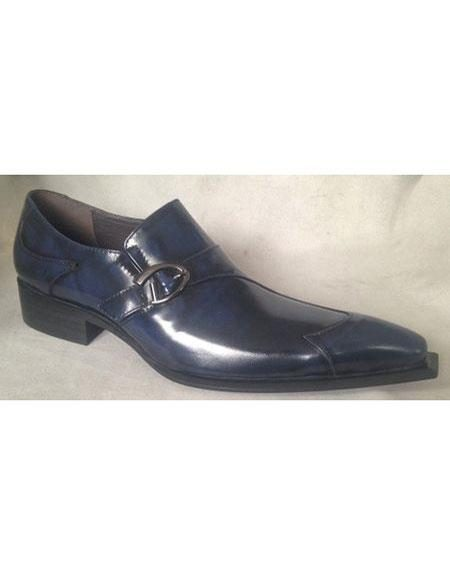 Mens Navy Wingtip Design Unique Zota Mens Dress Shoe