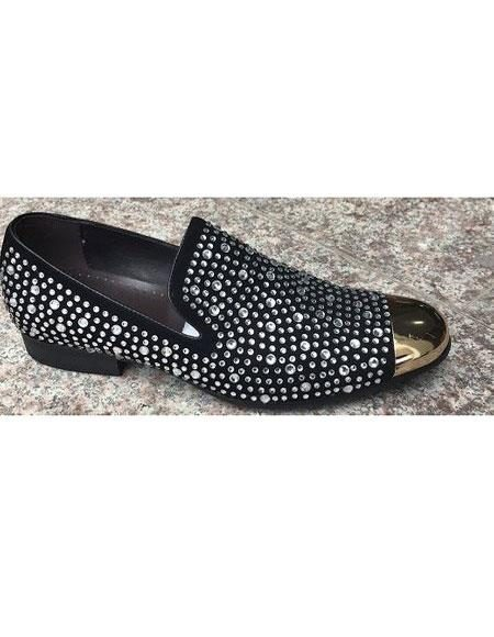 Mens Black Sparkle Loafer Unique Zota Mens Dress Shoe