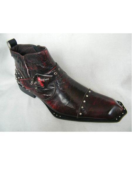 Mens Black Wrinkle Style Unique Zota Mens Dress Shoe