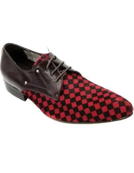 Mens Lace Up Red Unique Zota Mens Dress Shoe