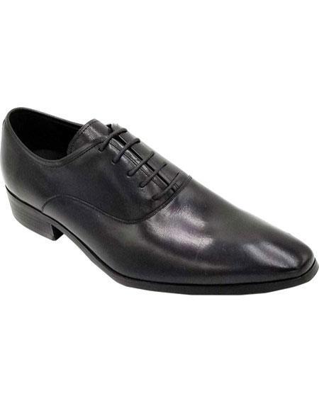 Mens Black Lace Up Unique Zota Mens Dress Shoe