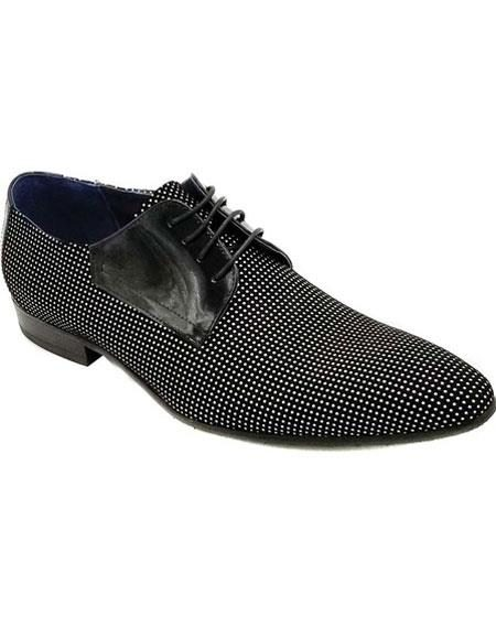Mens Black Lace Up Unique Zota Mens Dress Shoe