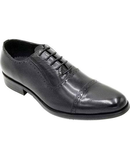 ZOTA Men's Premium Soft Genuine Leather Dress Shoe Classic Oxford Style In Black