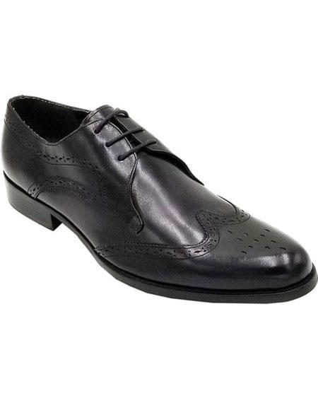 Mens Black Cap Toe Unique Zota Mens Dress Shoe