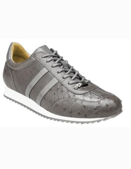 Mens Lace Up Grey Shoe