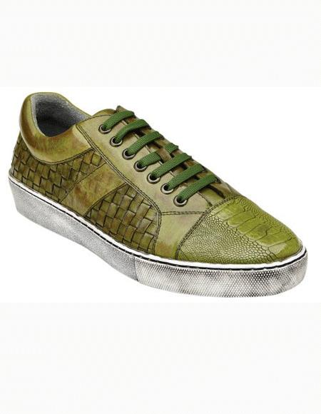 Mens Shoe Antique Emerald Lace Up