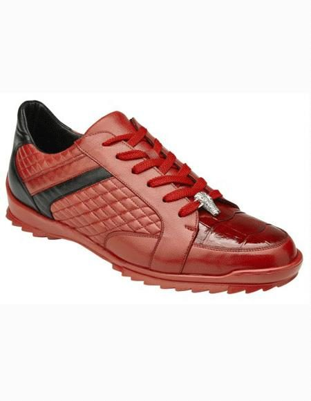 Mens Lace Up Red Shoe
