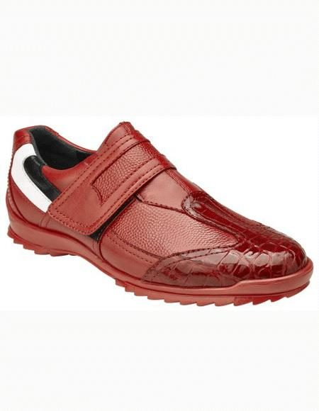 Mens Red Slip On Shoe
