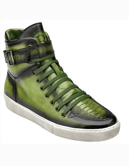 Mens Antique Emerald Shoe Lace Up