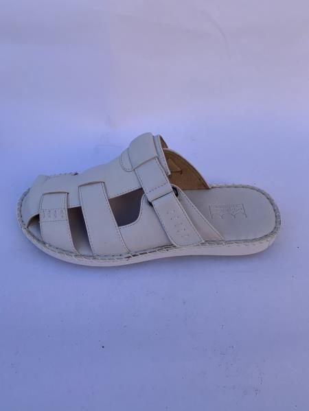 Mens Leather Gray Sandals