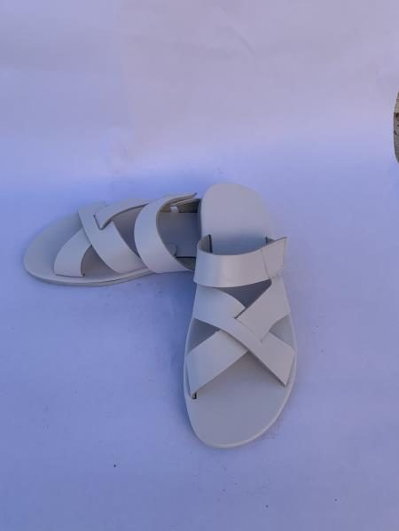 Mens Leather Gray Sandal