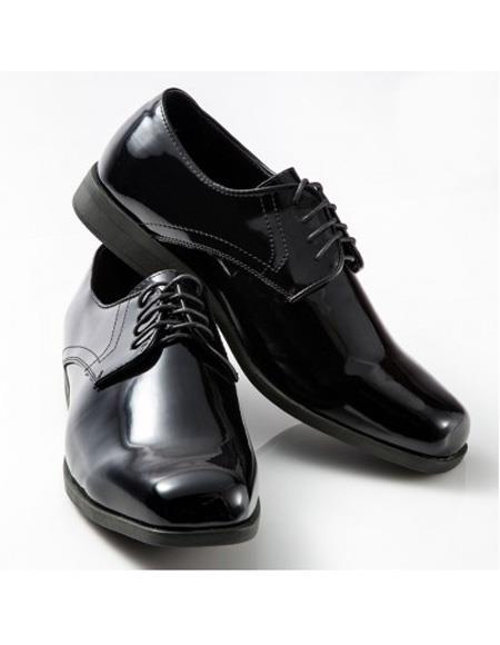 Mens Lace Up Classic Black Shoe