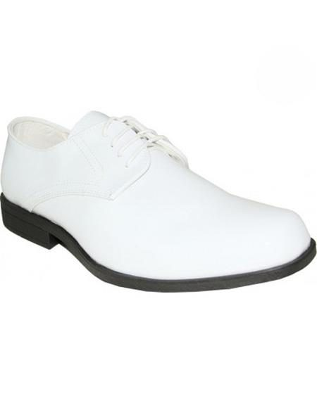 Mens White Shoe Lace Up