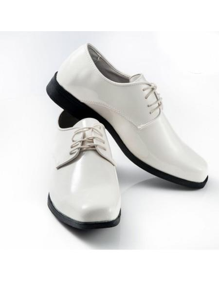 Mens Ivory Lace Up Square Toe