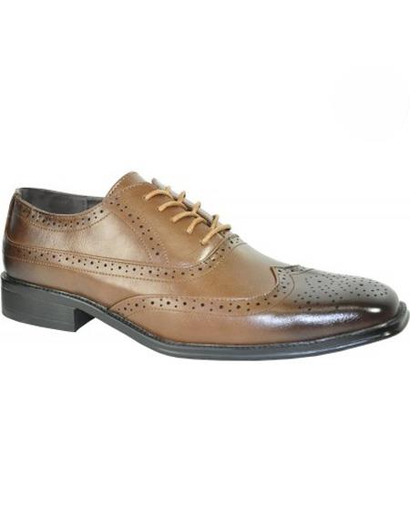 Mens Leather Lining Brown Lace Up Shoe