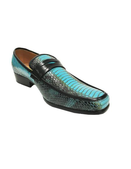 Mens Antonio Synthetic Fashion Turquoise Blue