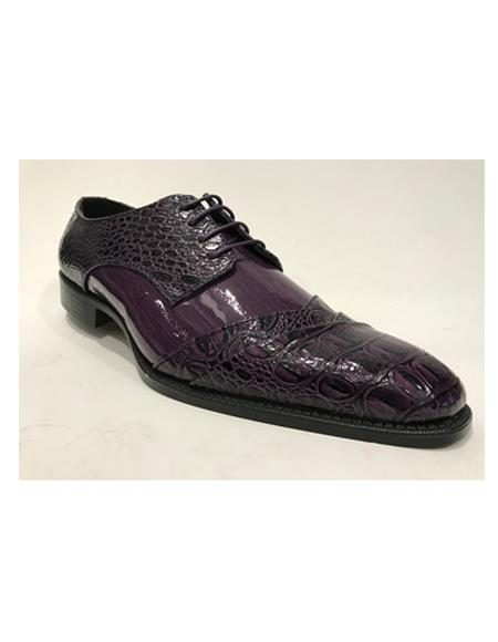 Mens Cap Toe Burgundy Shoes