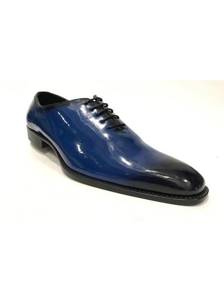 Mens Cap Toe Black Shoes