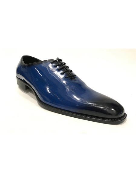 Mens Cap Toe Black Shoes