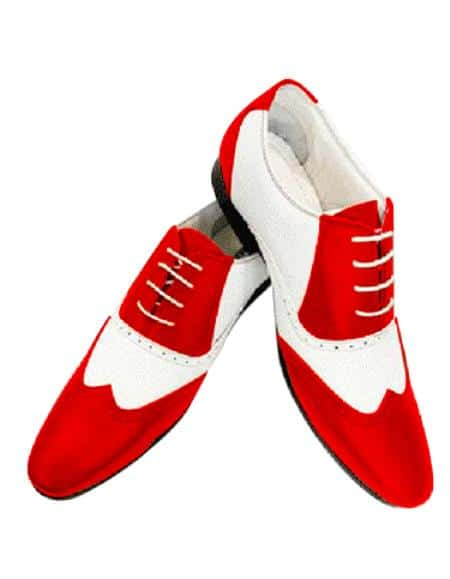 Alberto Nardoni Leather Two Toned Wing Tip Shoe + Orange Color