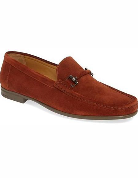Mens Cognac Slip On Leather Lining Shoe